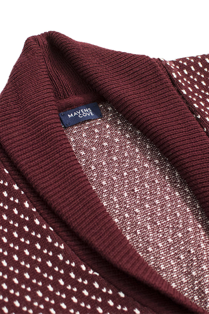 c‡rdigans merino wool blend  vino with shawl collar