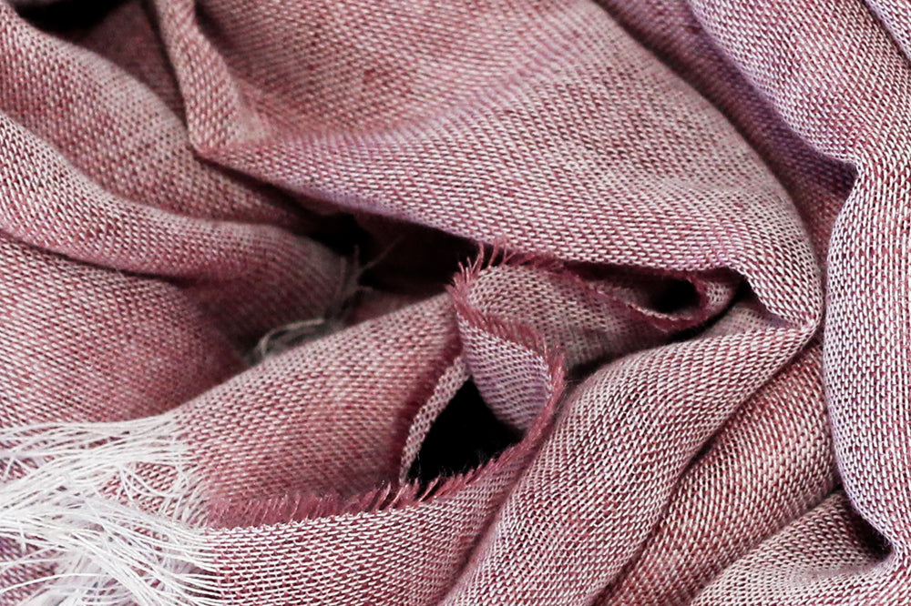 Kept Rosa linen cotton scarf close up image