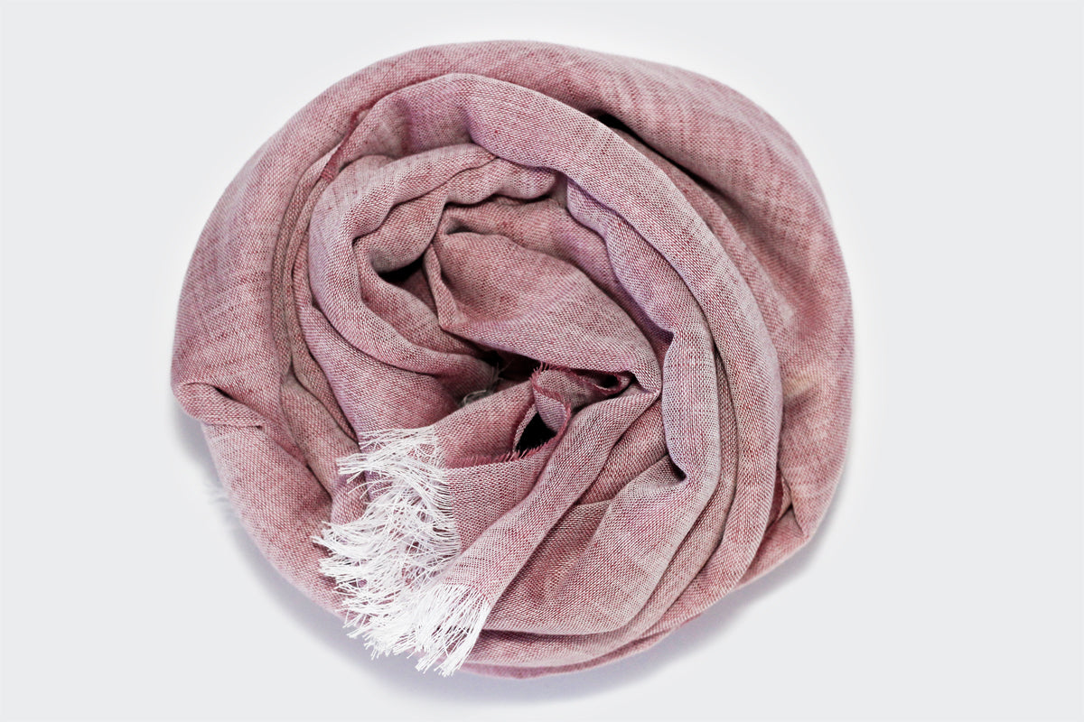 Kept Rosa linen cotton scarf rolled image