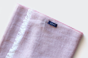 Kept Rosa linen cotton scarf folded image