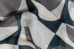 Marine Olson wool silk scarf close up made in Italy