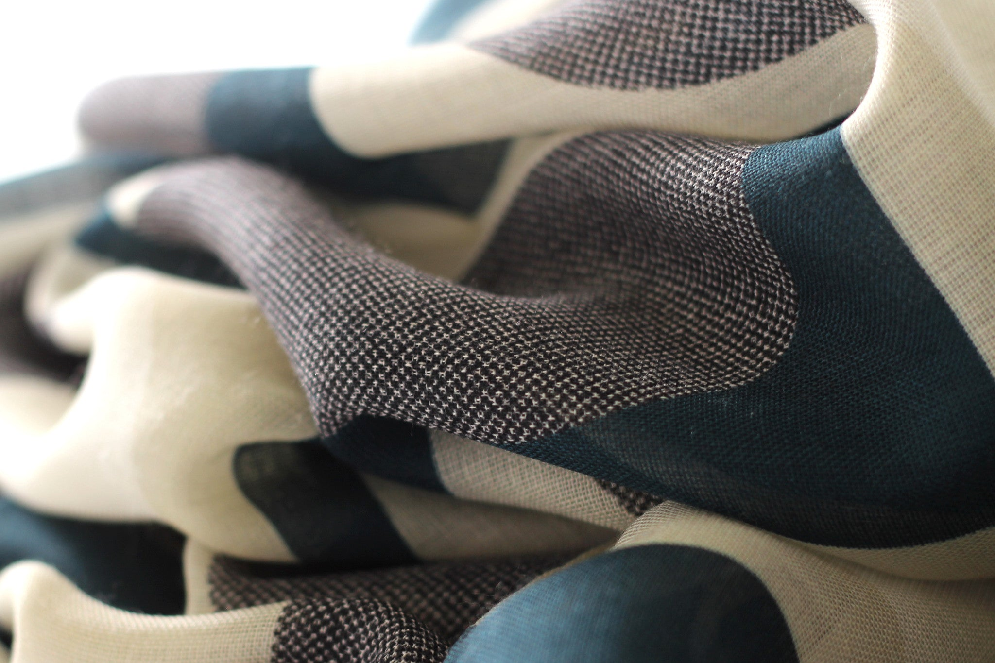 Marine Olson wool silk scarf texture made in Italy