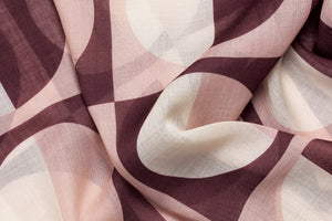 Rose Olson wool silk scarf close up made in Italy