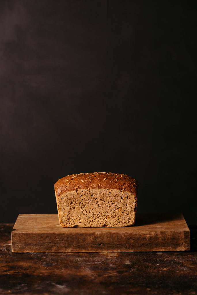 Handmade sourdough certified organic volkorn wholegrain bread