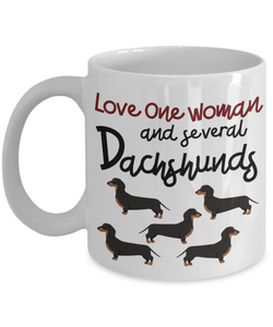 Mug Town - Doxie Got Moxie - Love One Woman and Several Dachshunds - Coolest Coffee Cups