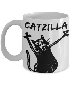 Mug Town - Catzilla Cute Cat - Coolest Coffee Mug