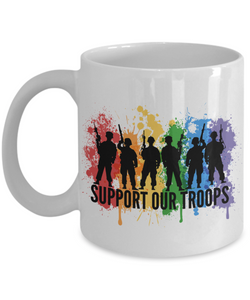 Mug Town - Support Our Troops - Trans Pride Mug