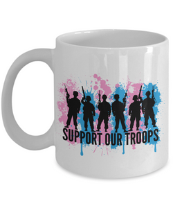 Mug Town - Support Our Troops - LGBTQ Mug Gifts