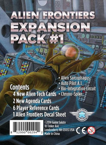 Alien Frontiers: Expansion Packs - Game Detective