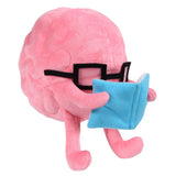 Brain with Book Plushie - Game Detective