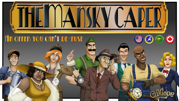 The Mansky Caper with Wooden Vault - Game Detective