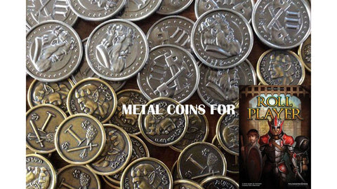 Roll Player Kickstarter Metal Coins - Game Detective