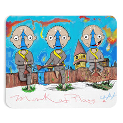 Monks At Play Mousepad