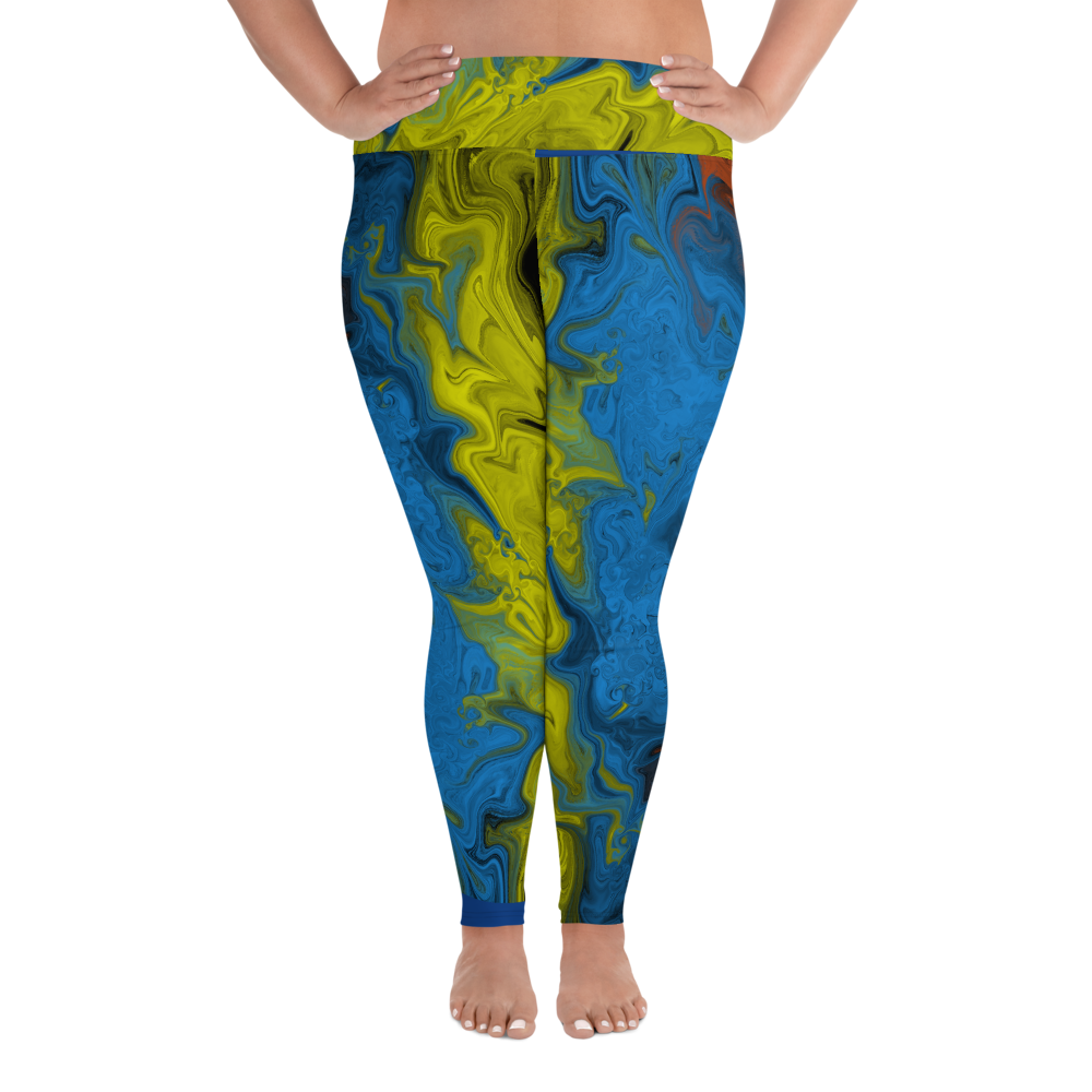 Splash Me All-Over Print Plus Size Leggings