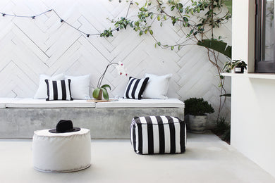 Stripey Goodness Outdoor & Poolside collection 4 colours available Cushions & Ottomans (inc gst)