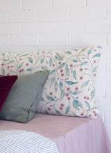 Hepburn Floral Linen Headboard Cushion 5+ colours 3 sizes