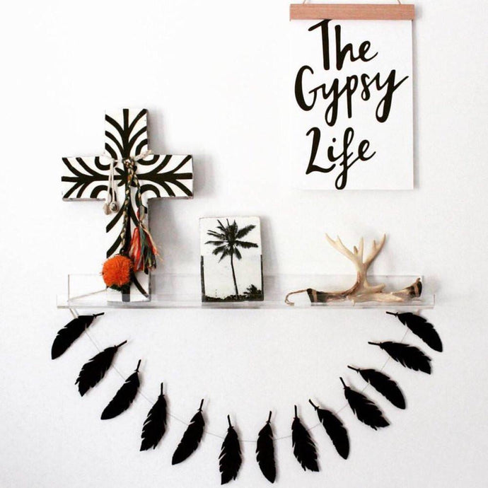 The Gypsy Life Typography Print