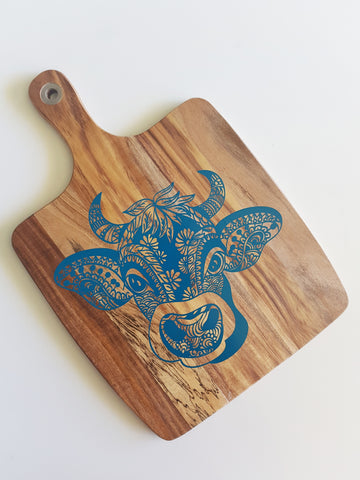 Cow Mandala Cheese Board