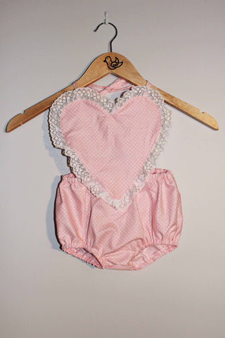 Pink Heart Sunsuit
