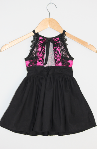 Goth Skulls Fuchsia Dress