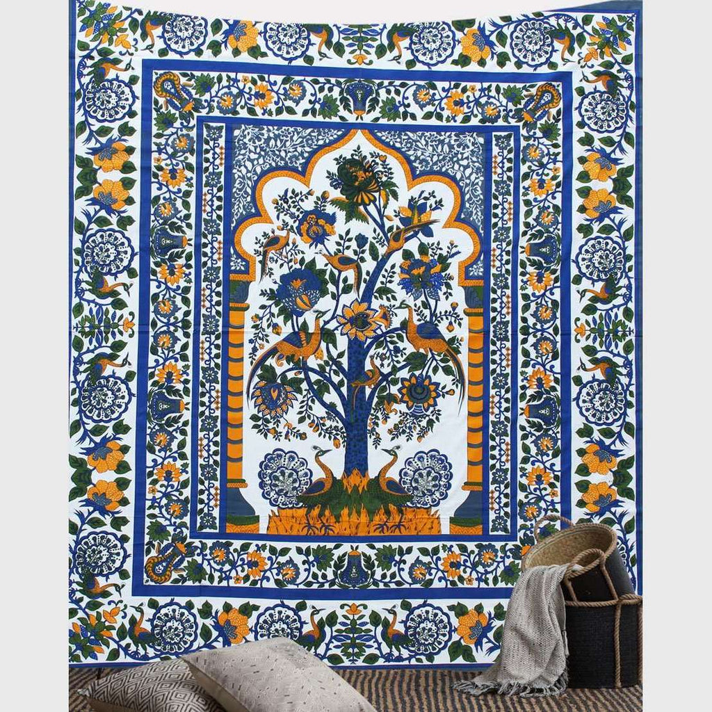 Peacock Garden Tapestry No.2