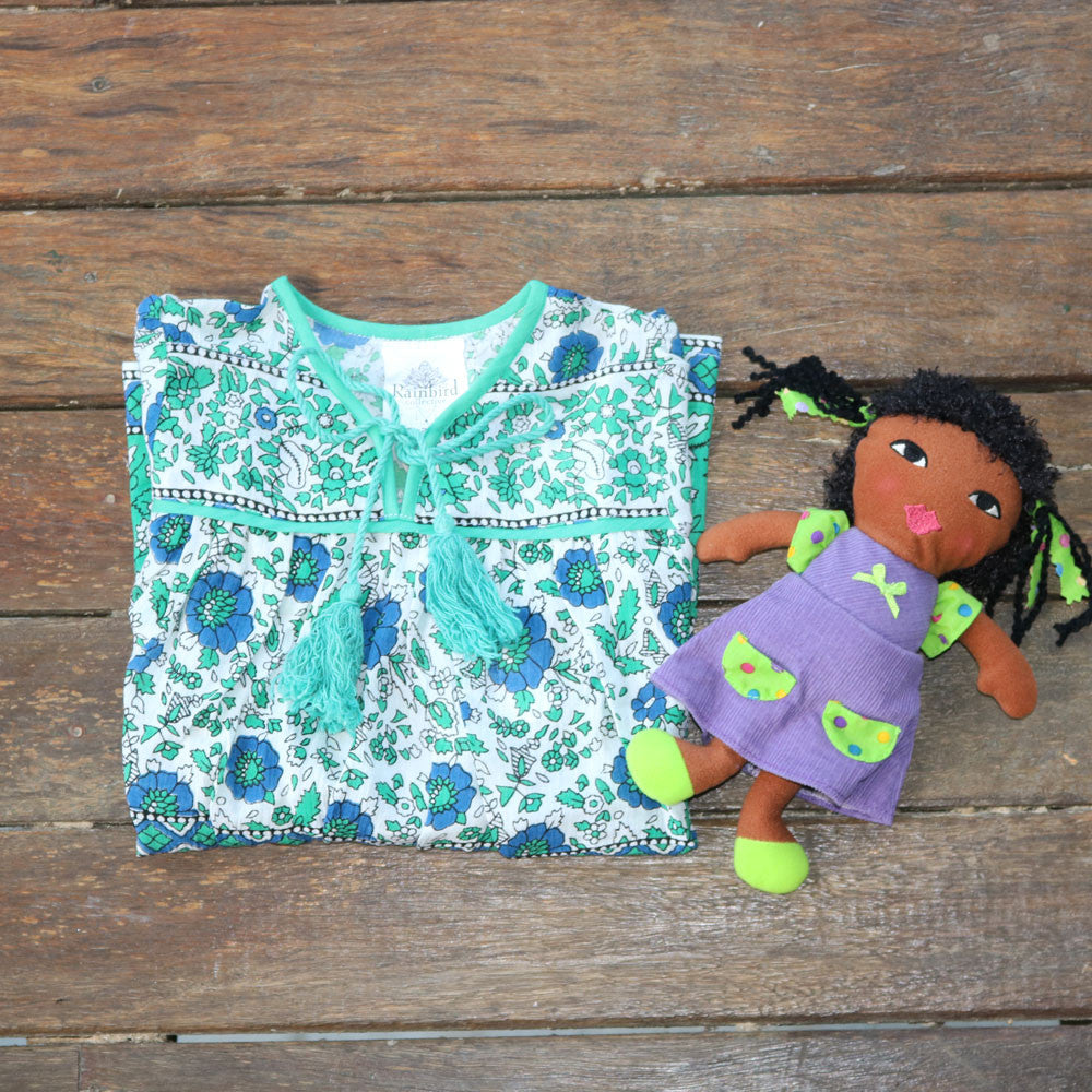 Ajanta Girls Dress - Rainbird Collective