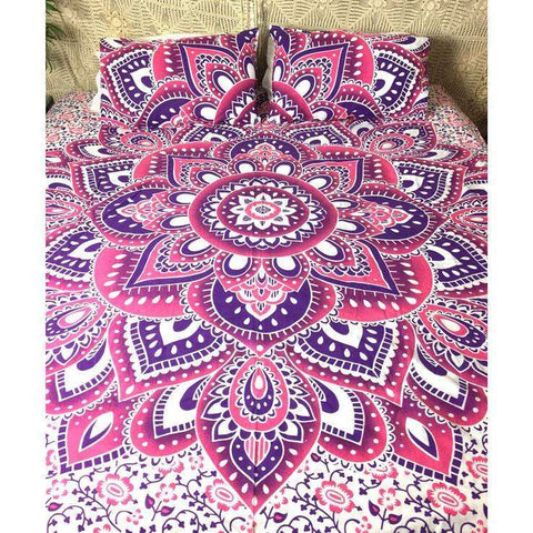 Araria Mandala Doona Cover Set - Pink & Purple (Queen & King)