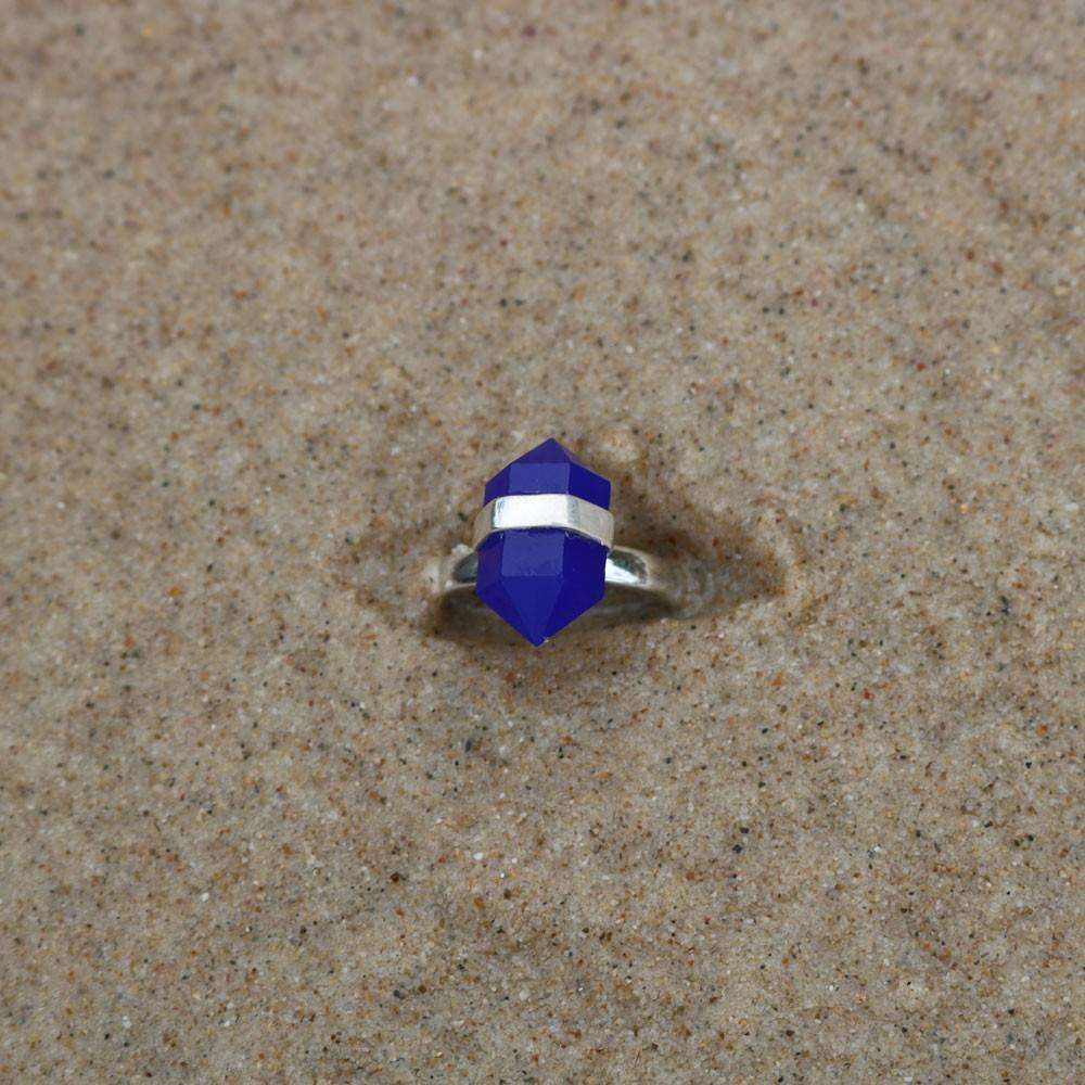 Blue Chalcedony Silver Ring