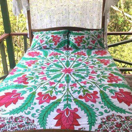 Boho Garden Doona Cover Set - (Queen)