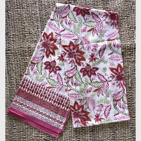 Orange Lotus Sarong