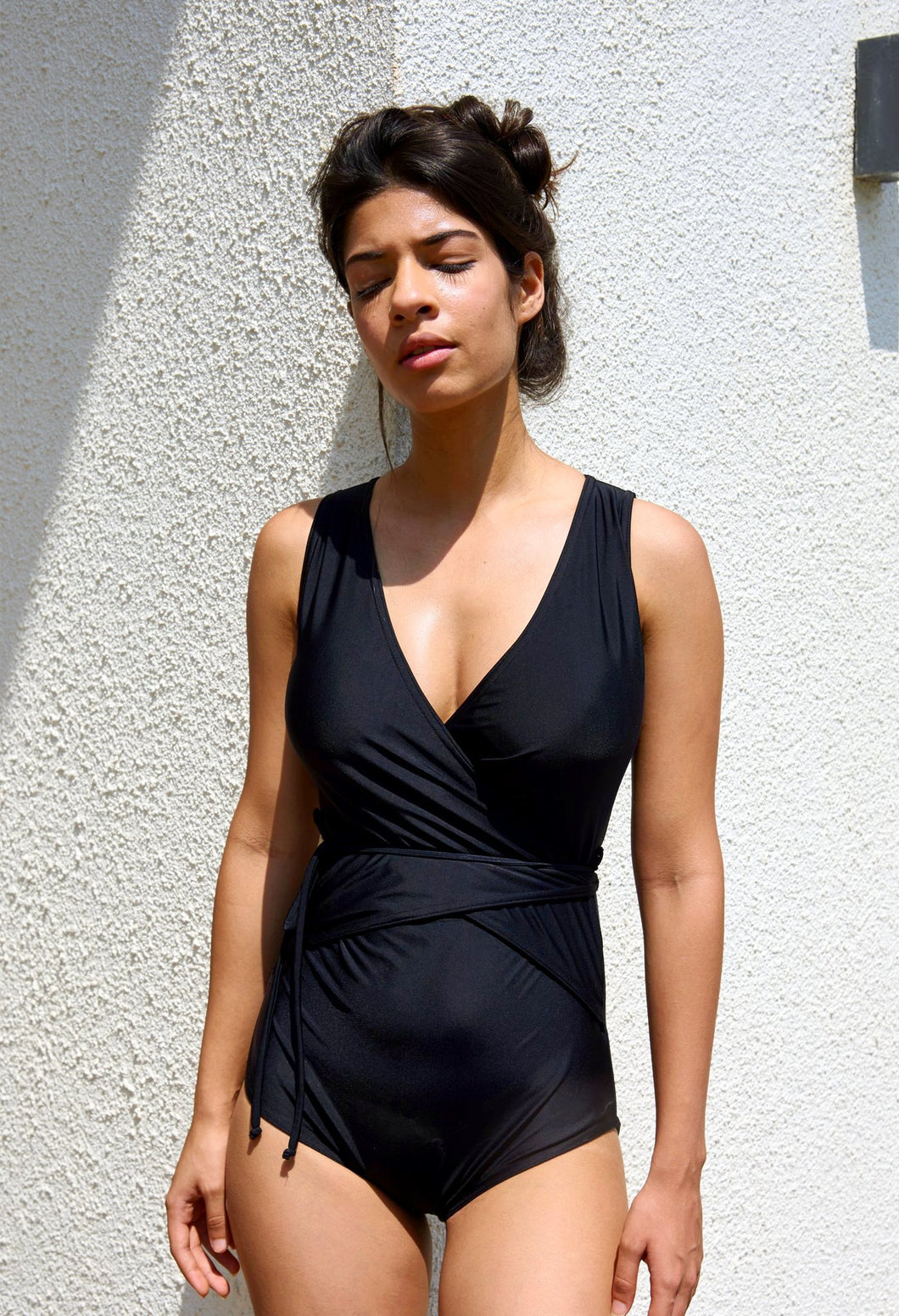 Swimwear India Black Wrap Full Coverage