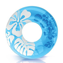 Floral Hawaiian Ring Float- Blue (For Adults) - NOTH!NG