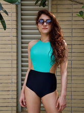Caribbean Blue Side Cut-Out Maillot