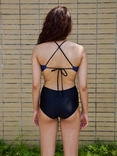 Blue Scale Side Cut-Out Maillot - NOTH!NG