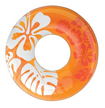Floral Hawaiian Ring Float- Orange (For Adults) - NOTH!NG