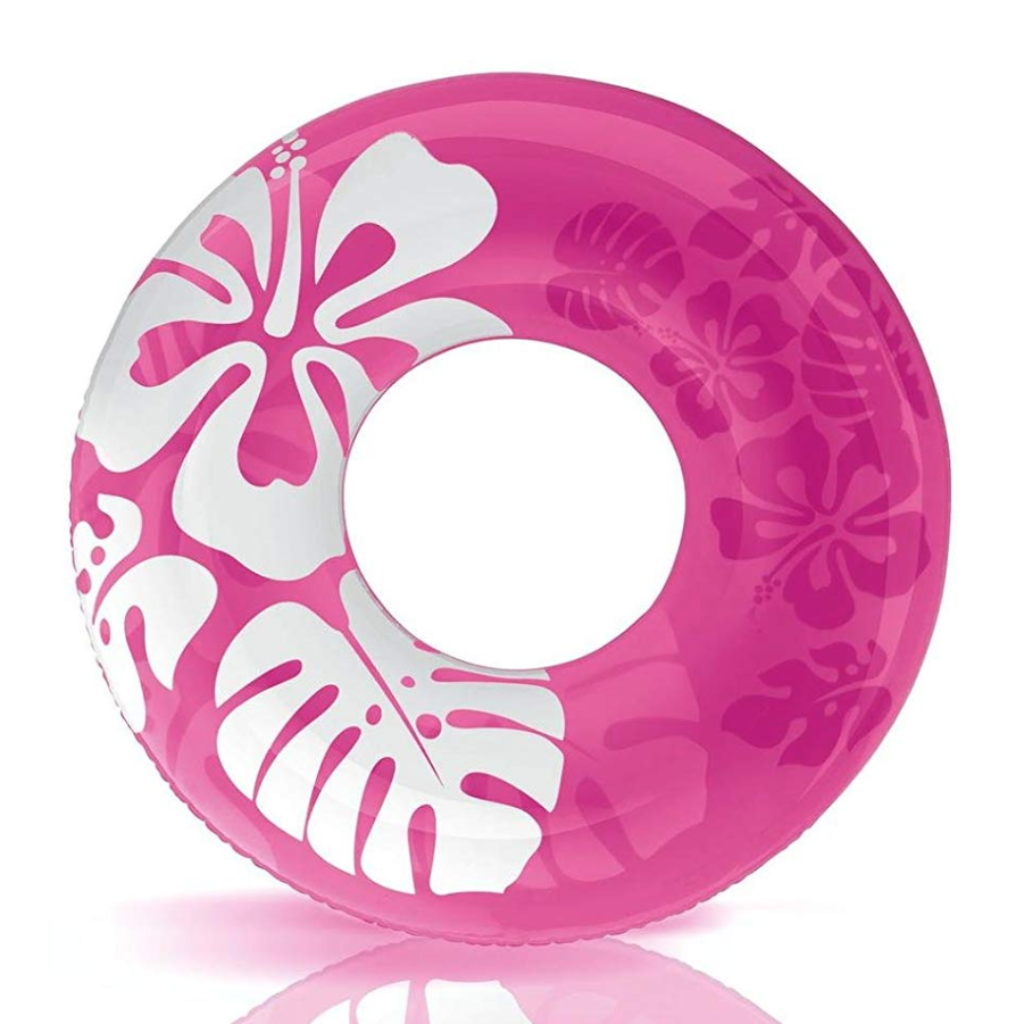 Floral Hawaiian Ring Float- Pink (For Adults) - NOTH!NG