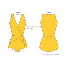 Aiden|  Wrap Around One Piece Swimsuit (Yellow) - NOTH!NG