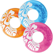 Floral Hawaiian Ring Float- Blue (For Adults)