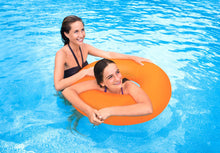 Frosted Matte Ring Floats- Orange (For Adults)