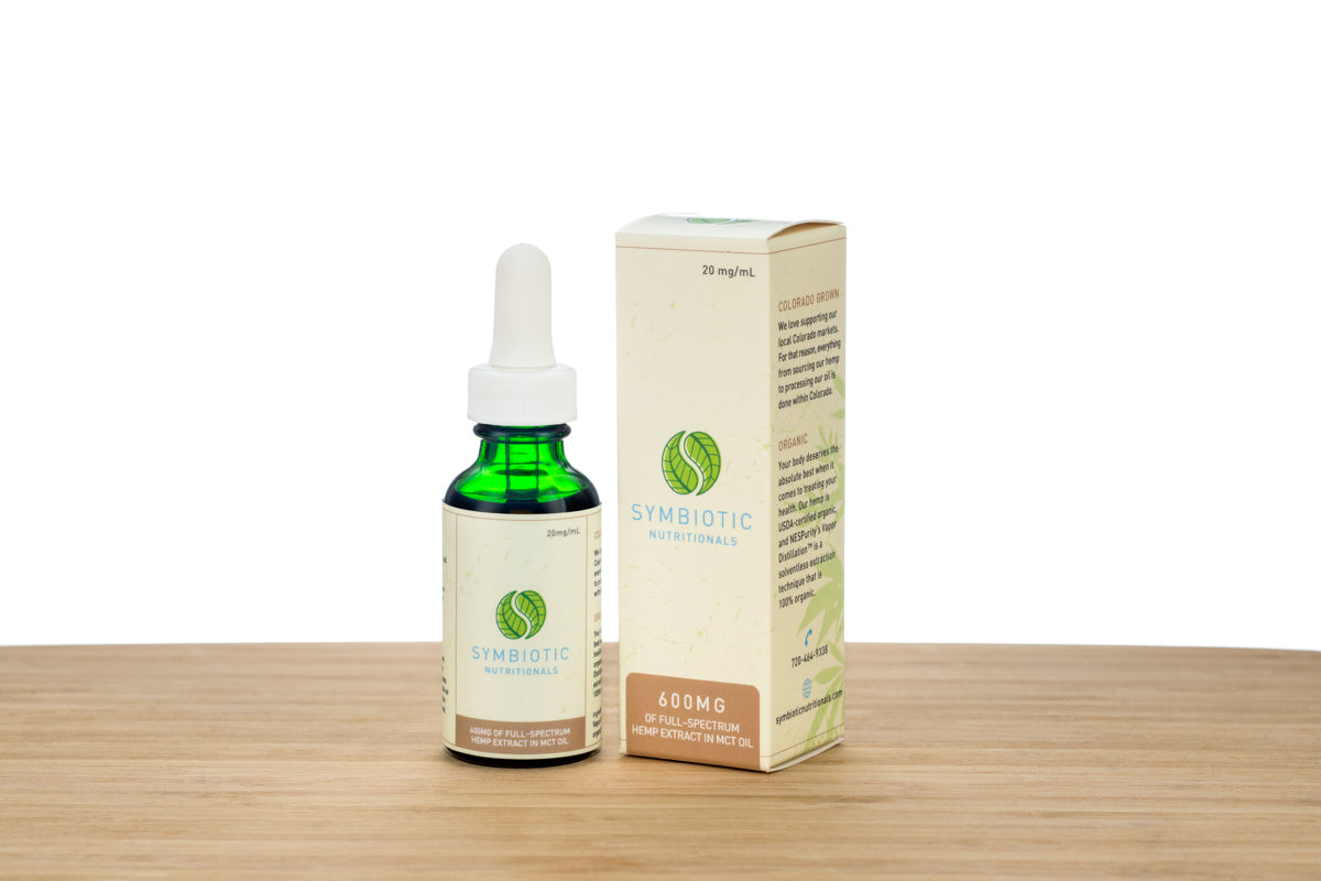Symbiotic Hemp™: Organic 600mg Hemp Extract Peppermint Tincture