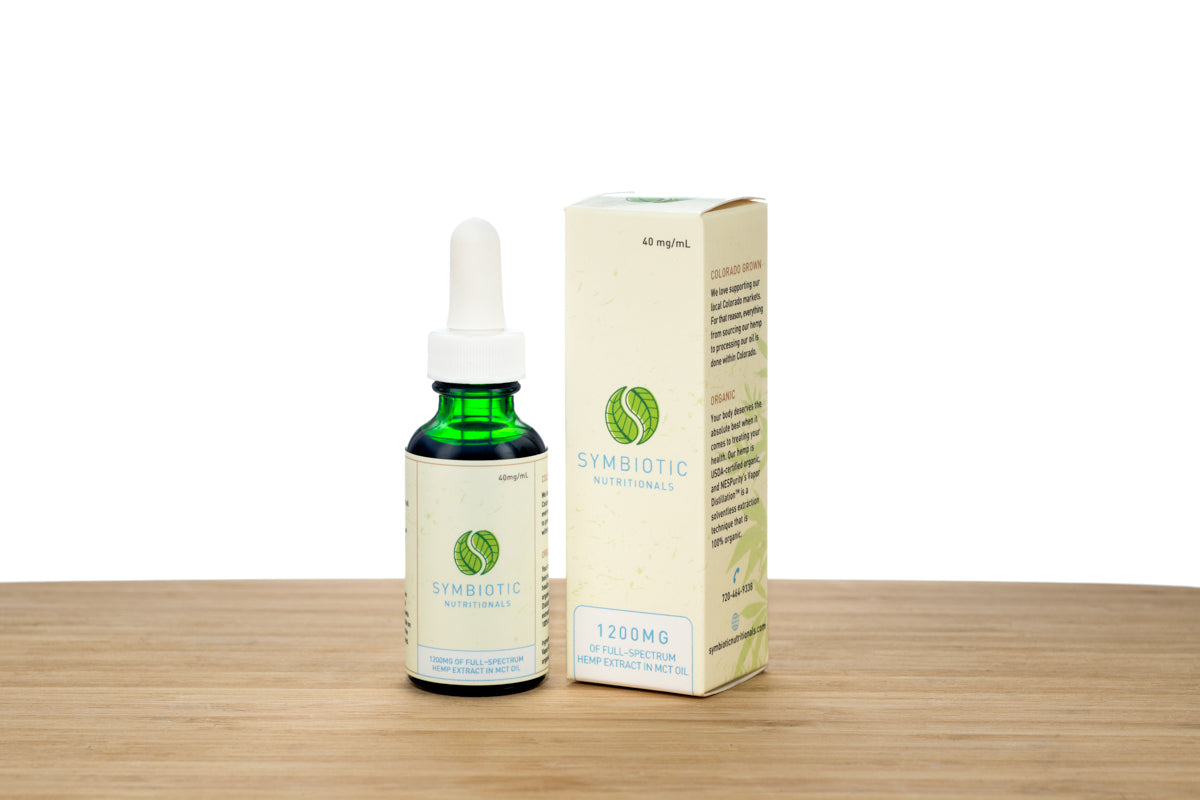 Symbiotic Hemp™: Organic 1200mg Hemp Extract Peppermint Tincture