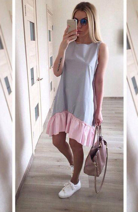 Beach Casual Sleeveless Dress