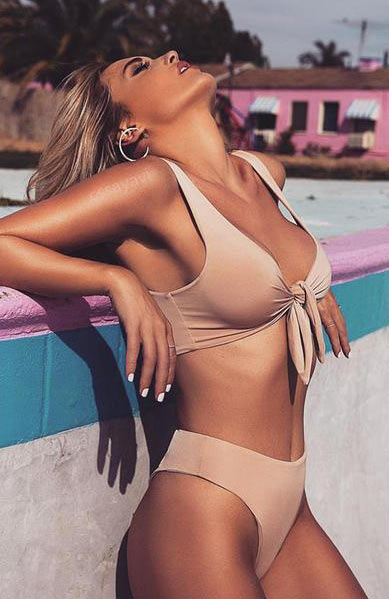 Sexy Mesh One Shoulder Monokini Swimsuit