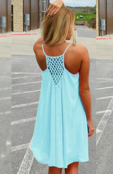 Beach Casual Sleeveless Dress - Lizachic