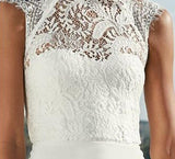 Lace White A Line Sexy Dress - Lizachic