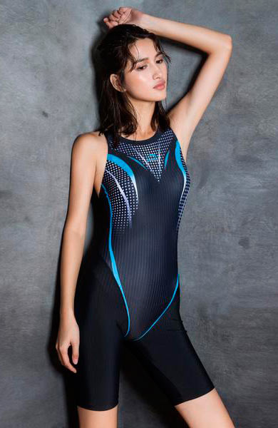 Sexy U-Neck Backless Stripes Closed-Fitting Sport Wear Suit