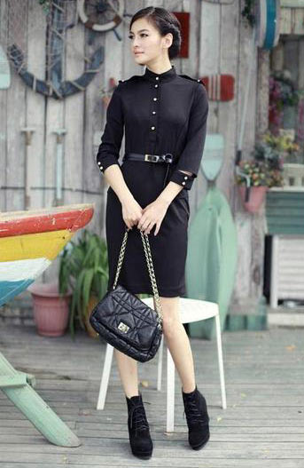 Elegant New Casual Celebrity Pencil Bodycon Black Dress - Lizachic