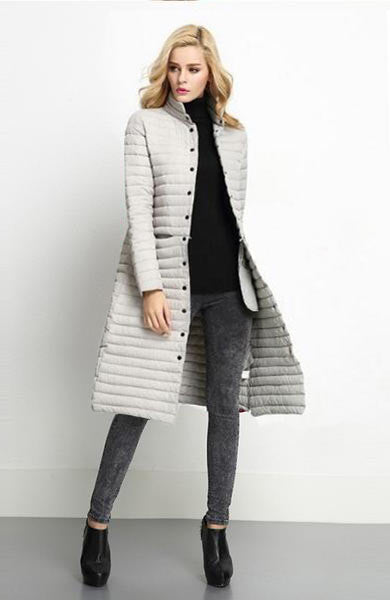 New Jacket Parka Women Winter Coat Women's Warm Outwear Thin Cotton-Padded Long Jackets Coats Female Jacket - Lizachic
