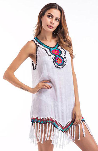 Casual New Loose Large Size V-Neck Embroidery Women T-shirts