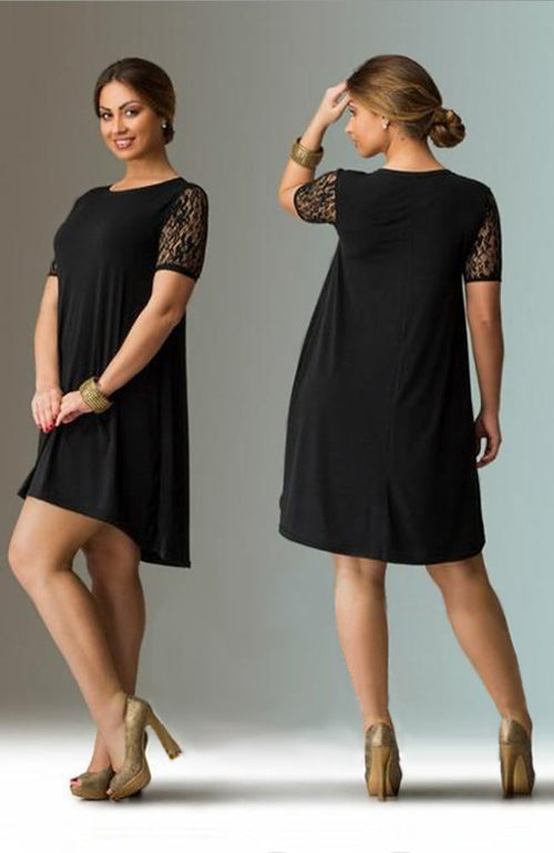 Casual Short Sleeve Dress - Lizachic